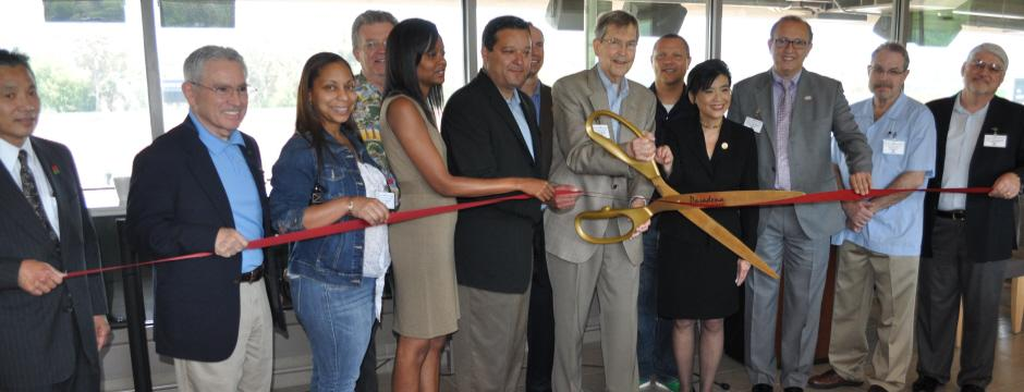 Ribbon cutting at Rose Bowl