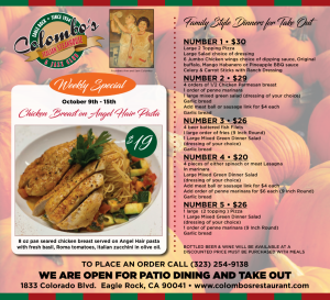 Colombo's Weekly Specials