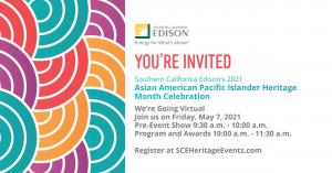 So Cal Edison Asian American Pacific Islander Heritage Month flyer