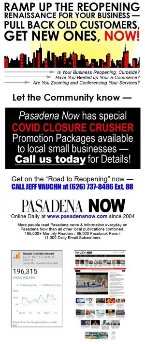 Pasadena Now return business ad