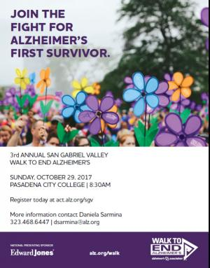 walk to end Alzheimers poster