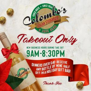 Take Out hours for Colombo's