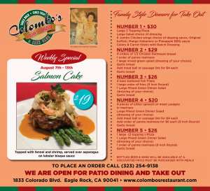 Colombo's menu and specials