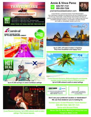 Cruise planners June specials
