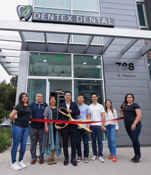 Dentex ribbon cutting
