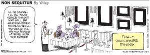 Socially Distanced dining comic