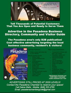 Pasadena Chamber Business Directory ad sales flyer