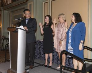 Justin Tsui swears in new Board members