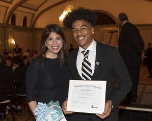 Maryam Brown and SoCal Gas Company Scholarship winner Reggie Myles
