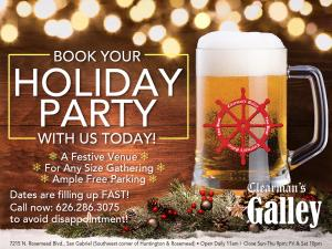 Galley holiday party ad