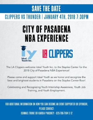 Ideal Youth Pasadena Day at the LA Clippers