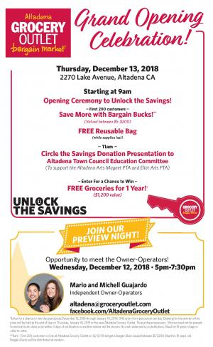 Grocery Outlet grand opening and preview night