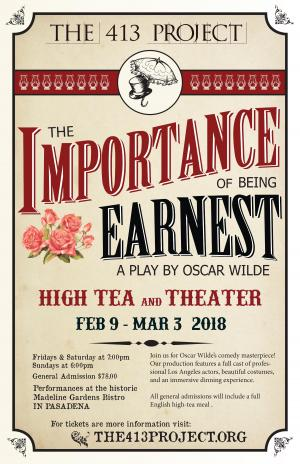 Importance of Being Earnest at Madeline garden
