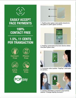 PopID hands-free payment system ad