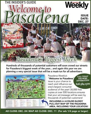 Pasadena Weekly welcome issue