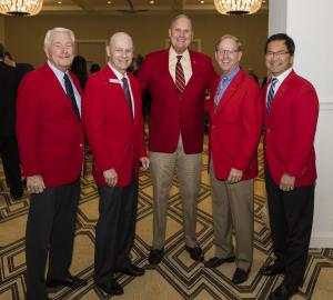 Past presidents with lance Tibbet