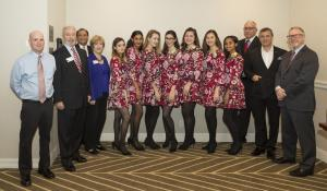 Queen and Court with Chamber Ambassadors