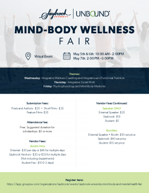 Saybrook virtual Wellness fair Flyer