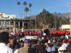 Jackie Robinson statue unveiling at Rose Bowl