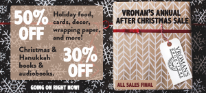 Vroman's After Holiday sale ad