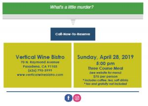 Vertical Wine bistro contact info and address