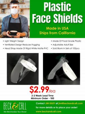 Beck and call face shield ad