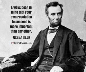 Lincoln quote on resolution