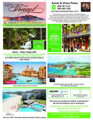 Cruise planners special