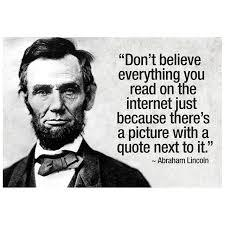 Abe Lincoln Internet Quote