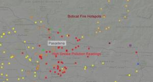 Bobcat Fire Smoke alert graphic