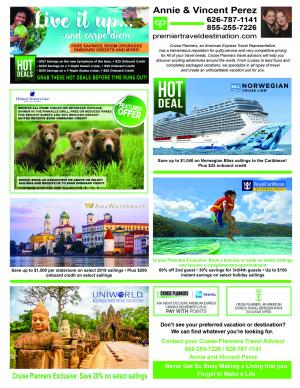 Cruise Planners october specials