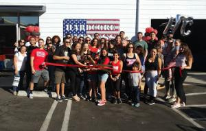 Hardcore Fitness ribbon cutting