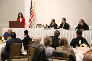 Laura Farber at the President's Breakfast