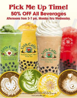 URTH Caffe special offer