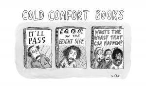 Cold Comfort Bookshelves cartoon